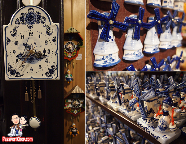 Windmills Magnets Figurine Souvenirs Amsterdam Delftware Delft Blue China Zaanse Schans Holland