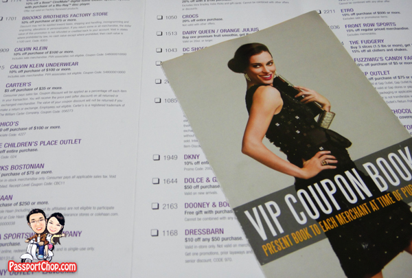 USA Shopping Factory Outlet Premium Outlet Las Vegas North VIP Discount Booklet
