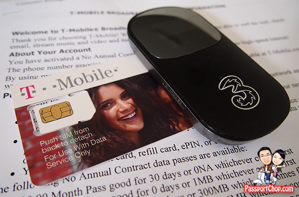 Mobile Broadband USA No Contract Singapore T-Mobile Contract activation Modem