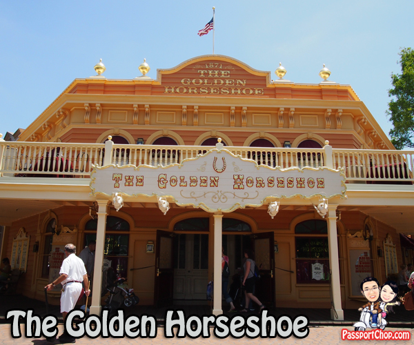 Golden Horseshoe Disneyland Park Lunch Performance Fish and Chips Western Cowboy Fun Comedy