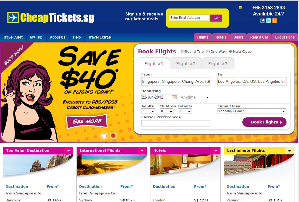 Cheapticket.sg MultiTrip Function