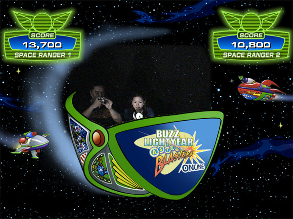 Buzz Lightyear Astro Shooting Attraction Disneyland Los Angeles Anaheim Free Photography