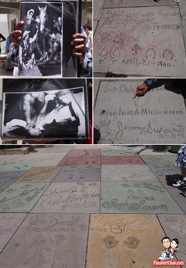 Hollywood Footprints Horse Shoe Prints Gun Prints and Face Prints Grauman Chinese Theatre Hollywood CITYPASS