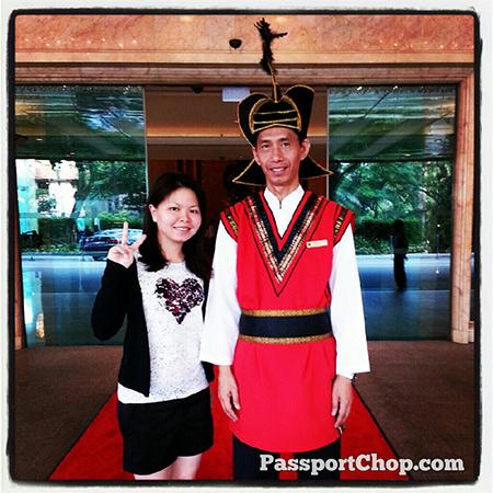 Friendly ShangriLaHotels Doorman with his distinctive Tibetan warrior style uniform Garden Wing Shangri-la Singapore #LovingtheMoment staycation