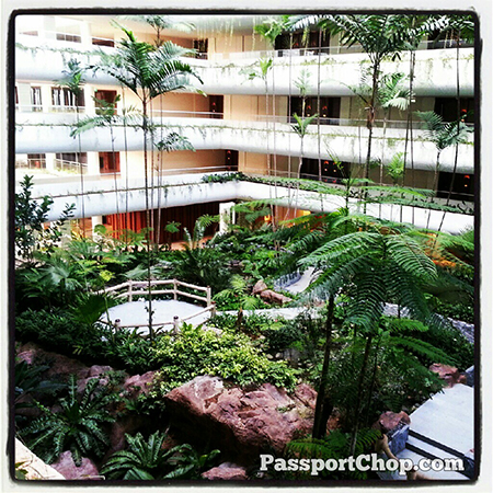 Garden Wing ShangriLaHotels with waterfall #LovingtheMoment @ Shangri-La Hotel, Singapore staycation