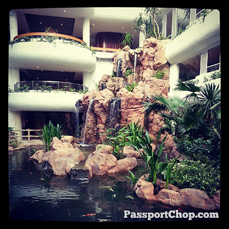 Waterfall ShangriLaHotels Garden Wing #LovingtheMoment @ Shangri-La Hotel, Singapore staycation