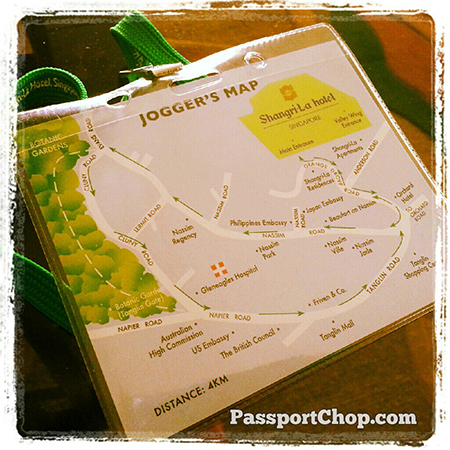 Jogging map for guests of @ShangriLaHotels - that's thoughtful! #LovingtheMoment @ Shangri-La Hotel, Singapore