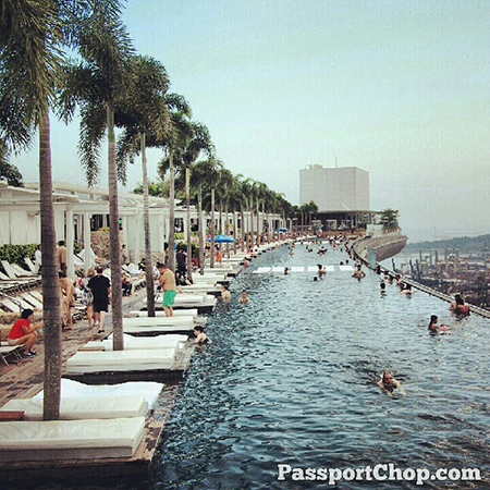 MarinaBaySands SkyPark infinity pool @ Marina Bay Sands Hotel