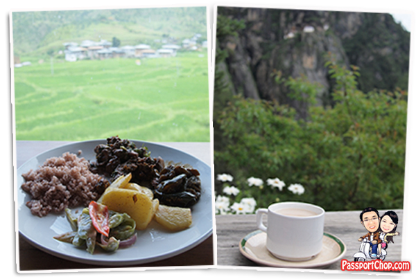 Tiger Temple Taktshang Chimmi Lahkang Cafe Restaurant Bhutan with a View Bhutanese Cuisine