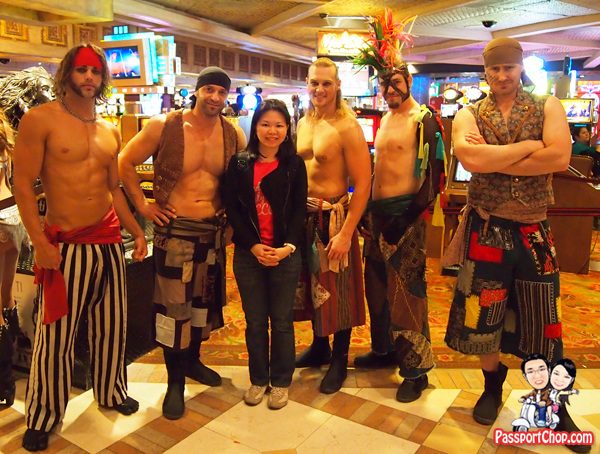 Photo Opportunity with Crews Sirens of Treasure Island Las Vegas Free Performance Evening Acts