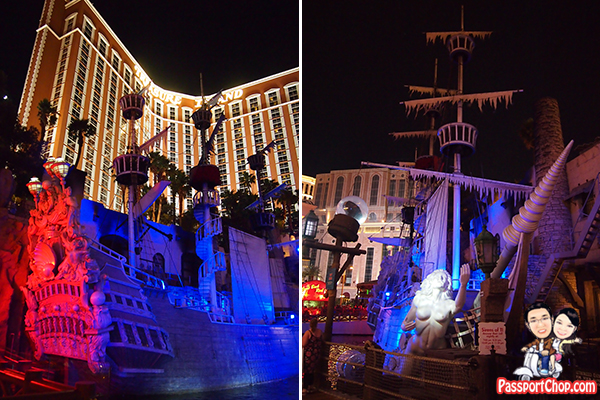Sirens of Treasure Island Las Vegas Free Performance Evening Acts