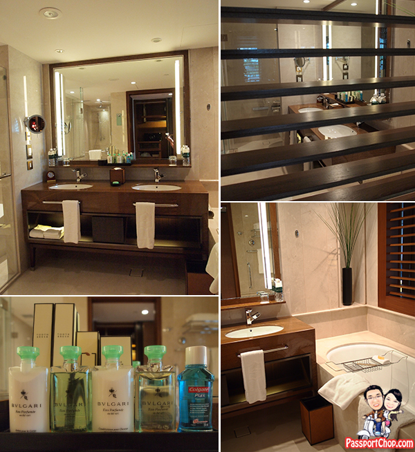 Toiletries Bathroom Walk-in Closet Wardrobe Shangri-La Hotel Singapore Premier Balcony Suite Staycation Review Garden Wing The Line