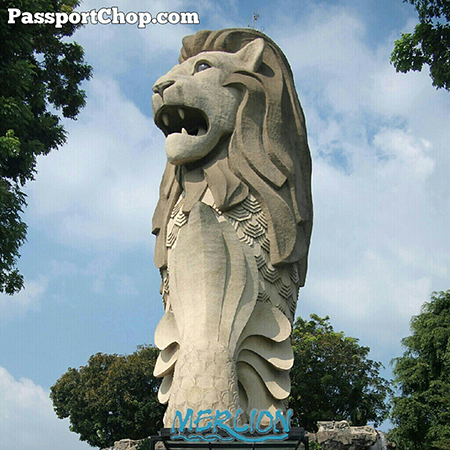 Merlion Tower Sentosa Transform into Majestic 37 metre icon Digital Canvas 3D Projections Video Fireworks