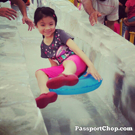 Asia Ice Playground by the Beach at Palawan Ice Slide and Train