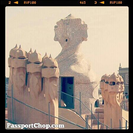 Spain Barcelona Unique Gaudi designed chimney stacks @ La Pedrera @SpainSEA @CheapTickets_SG @visitabarcelona