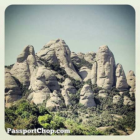 Spain Barcelona Montserrat rock formations @Spain @SpainSEA @cheaptickets_sg @montserratinfo