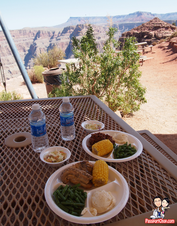 Barbeque Buffet Lunch Guano Point View Grand Canyon United States of America West Rim Tour Grand and Air Tour from Las Vegas
