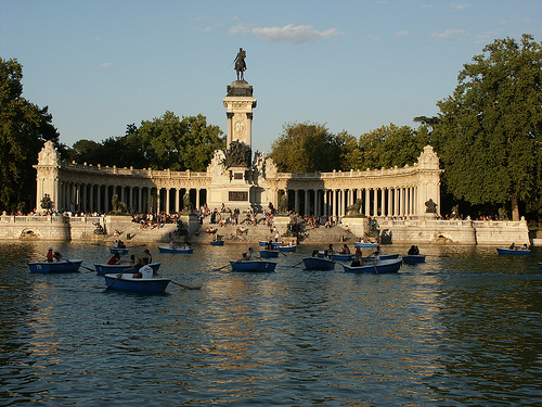 Retiro Park Madrid Spain