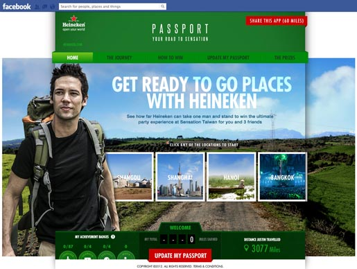 Heineken Passport Facebook Man of the World Campaign Iris Communications