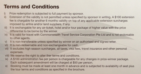 PassportChop OCBC Cashflo Dream Itinerary Contest Prize $500 CTC Travel Voucher Terms and Conditions