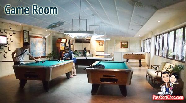 Plantation Bay Resort and Spa Philippines Cebu Mactan Island fun Games Room Free Entertainment Foosball Air Hockey Arcade Games, Pool, Billard, Wii, X Box