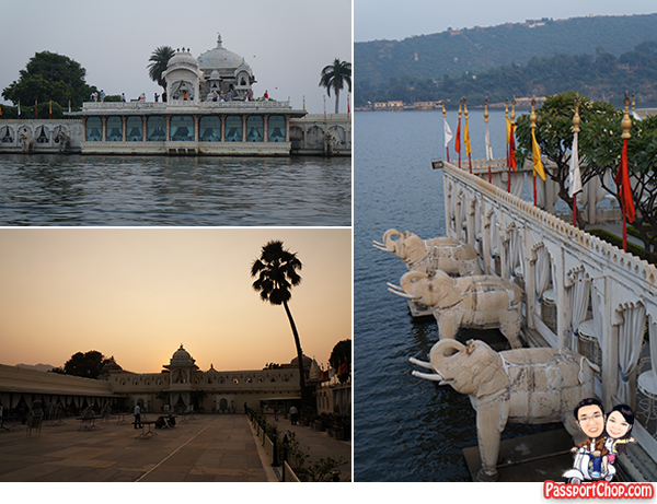 Udaipur India Lake Pichola Jag Mandir Palace City Palce Taj Niwas Sunset Cruise