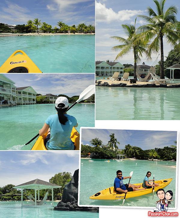Cebu Plantation Bay Resort and Spa Philippines Sea Sports Kayaking Man-made saltwater lagoon Aqua Sports