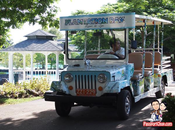 Shuttle Bus Jeepney Plantation Bay Resort Lagoon Side Water's Edge House Philippines Cebu