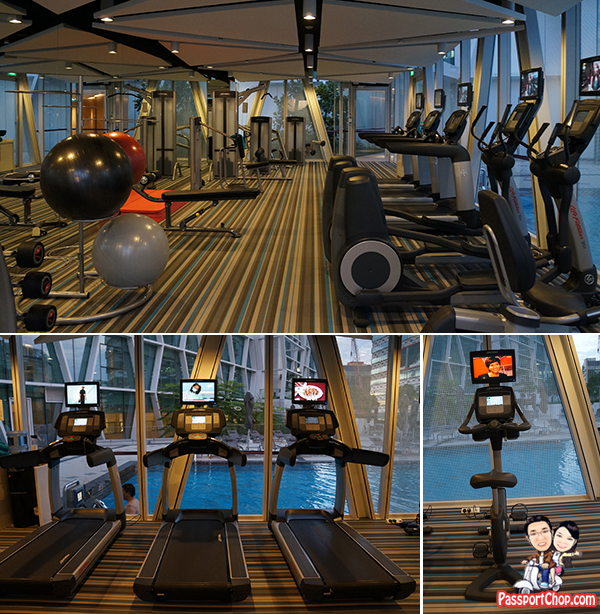 Singapore Staycation Singapore Travel Blog Capri by Fraser Residence Hotel Accommodation review Gym room weights treadmill