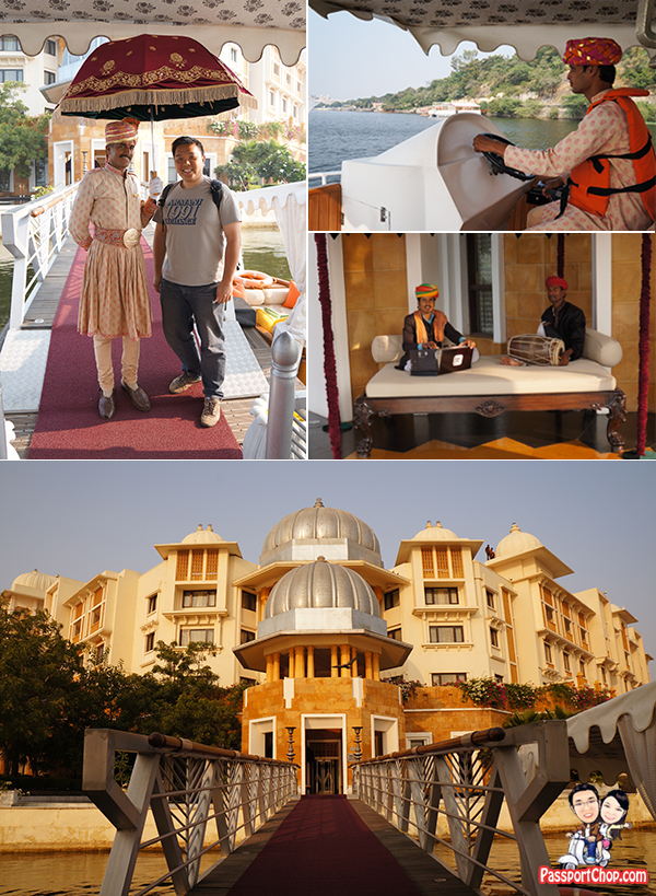 Leela Palace Udaipur Jetty Welcome Procession Friendly Doorman Musical India