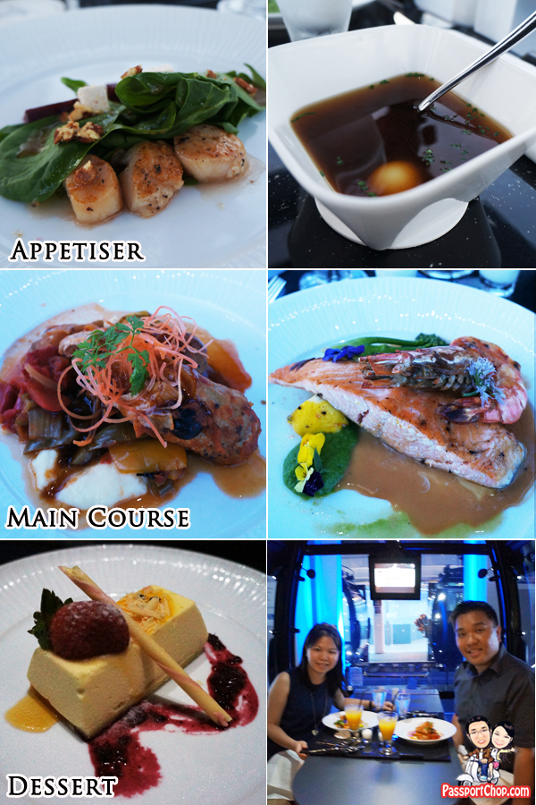 Food Western 3 Course Meal Each Round 20 minutes Singapore Sky Dining Cable Car Mount Faber Sentosa Appetiser Main Course Dessert