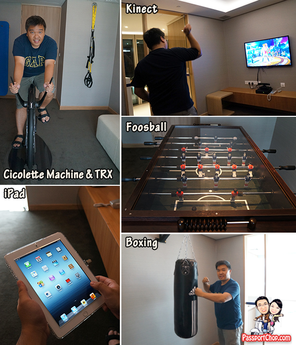 Singapore Staycation Singapore Travel Blog Capri by Fraser Residence Hotel Accommodation review Laundry Spin and Play Games Room X-Box Kinect Cicolette Machine TRX Boxing Foosball iPad