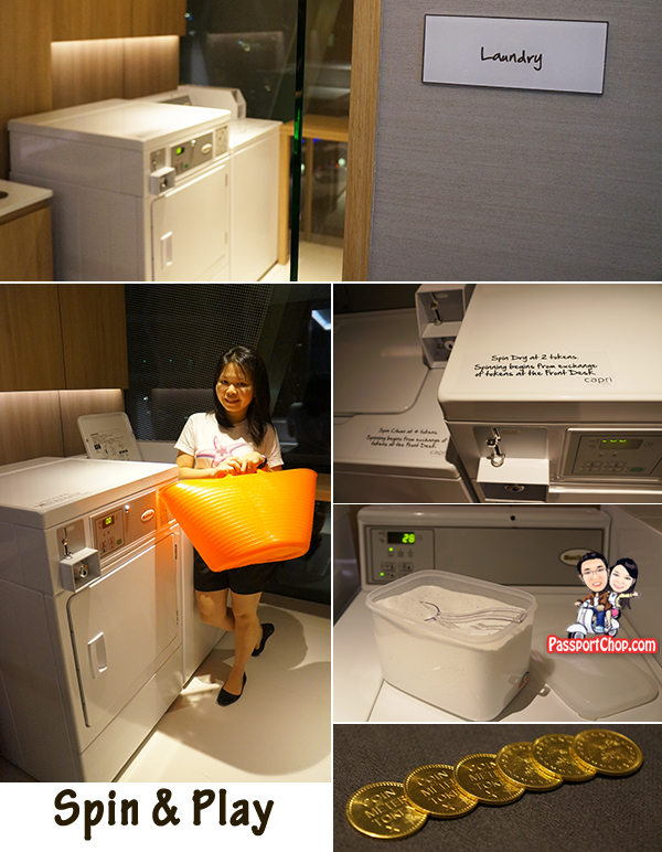 Singapore Staycation Singapore Travel Blog Capri by Fraser Residence Hotel Accommodation review Laundry Spin and Play Launderette Games Room Tokens Washing Machine Dryer