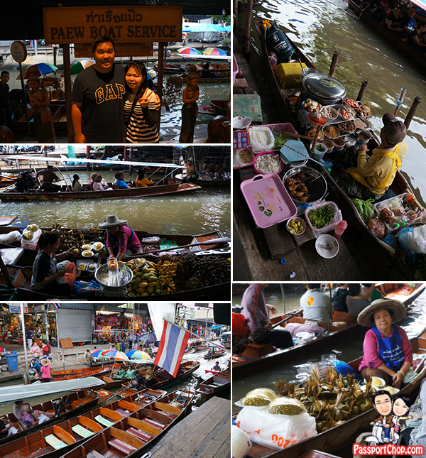 Damnoen Saduak Floating Market Bangkok Tour Shopping Eating Private Longtail Boat Busy Market Thailand Singapore Travel Blog PassportChop
