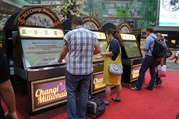 Changi Millionaire Game Station Lucky Draw Machine at Changi Airport