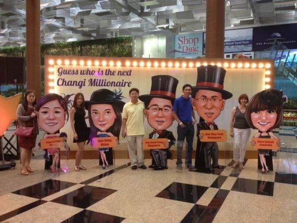 Changi Millionaire Finalists Pan Lizhu, Sun Ming, Peh Hock Peng, Sim Why Teck, Mara Cusick China, Singapore, Australia