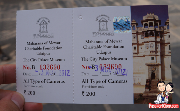 Udaipur City Palace Rajasthan Camera Fees Attraction