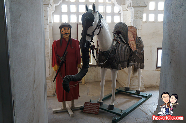Maharana Pratap Singh Warrior King Udaipur city Palace Horse dressed as elephant to scare enemy