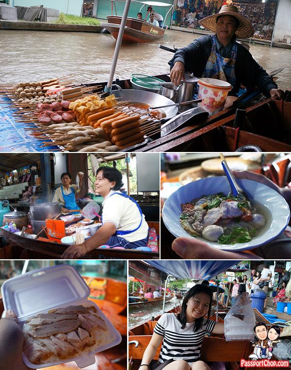Damnoen Saduak Floating Market Bangkok Tour Shopping Eating Private Longtail Boat Busy Market Thailand Singapore Travel Blog PassportChop