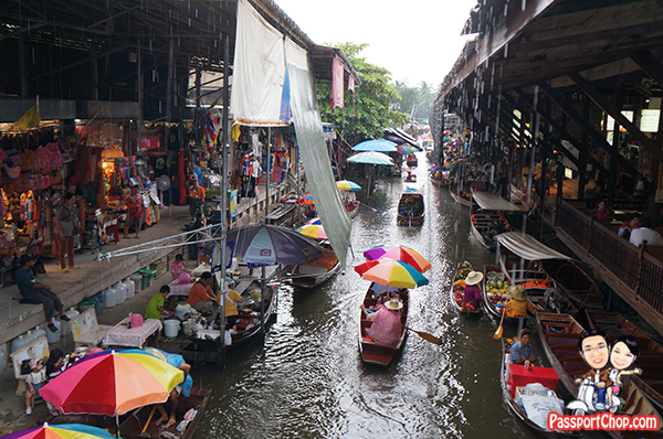 Damnoen Saduak Floating Market Bangkok Tour Shopping Eating Private Longtail Boat Singapore Travel Blog PassportChop