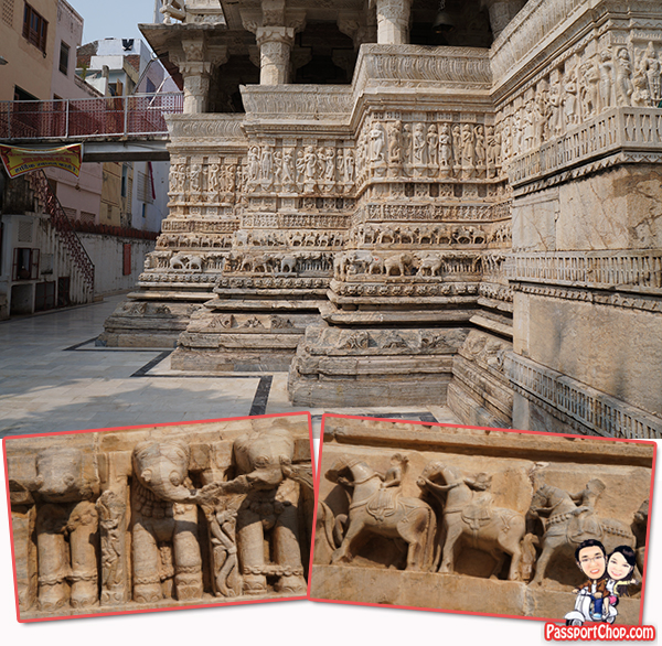 Jagdish Temple Vandalism by Enemy Defeat Deface Elephant and Soldier Statue Carvings