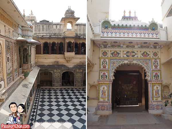 Udaipur City Palace Courtyard