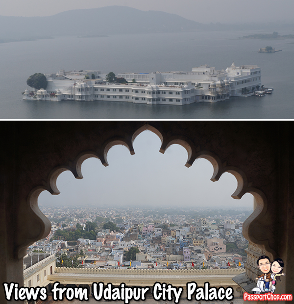 Views from Udaipur City Palace