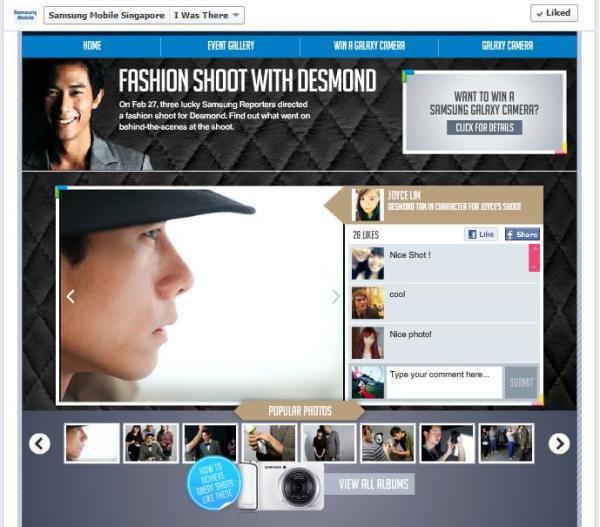 Samsung Fashion Shoot Desmond Reporters