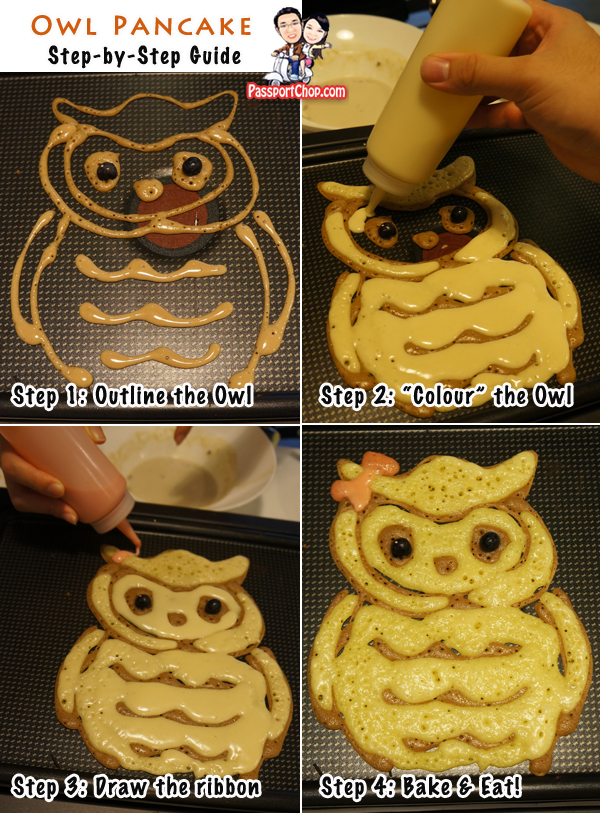 Nook House of Pancake DIY Pancake Owl Drawings