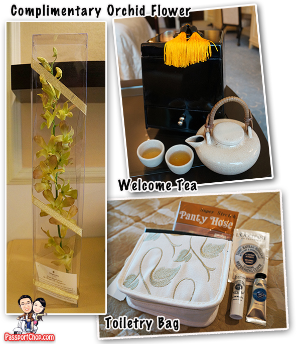 Shangri-La Hotel Singapore Valley Wing VIP Service Personalised Service Complimentary Flowers Staycation Deluxe Room Toiletries Set