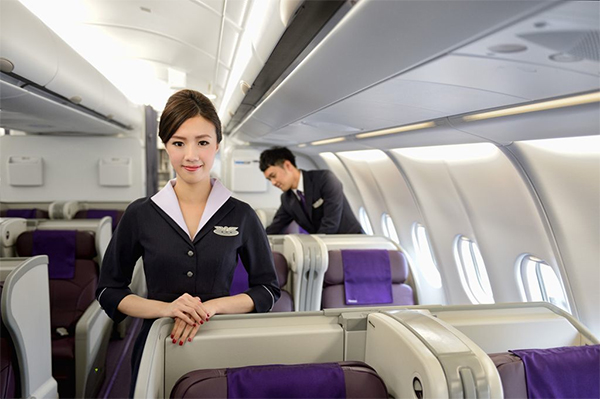 TransAsia Airways 復興航空 Air Stewardess Staff Friendly Helpful Singapore to Taipei Direct Flight Changi Airport Terminal 2