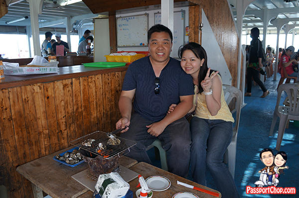 Penghu Island Tour Travel 青灣海洋牧場巡禮 bbq oyster Fishing Kelong Coral Reef Viewing Qiito