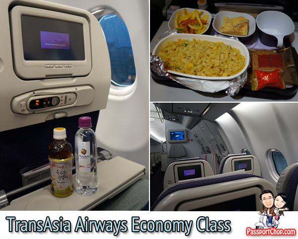 TransAsia Airways 復興航空 economy class Singapore to Taipei