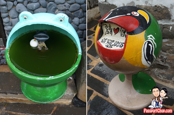 erkan old village 二崁古厝聚 recycled buoy recycle bin